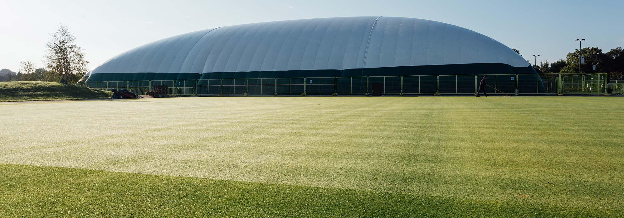 Grass Tennis Court Construction Photo