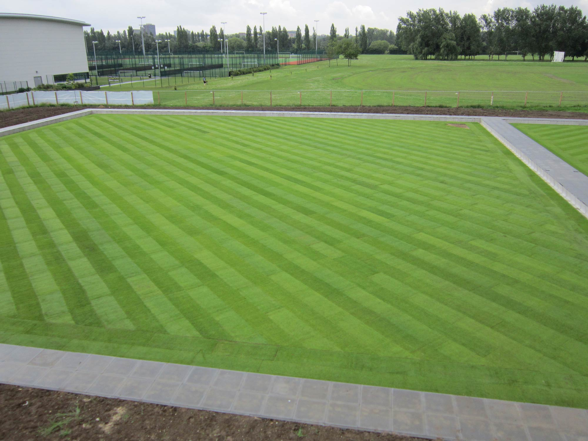 Basildon Sports Village Bowling Green Construction