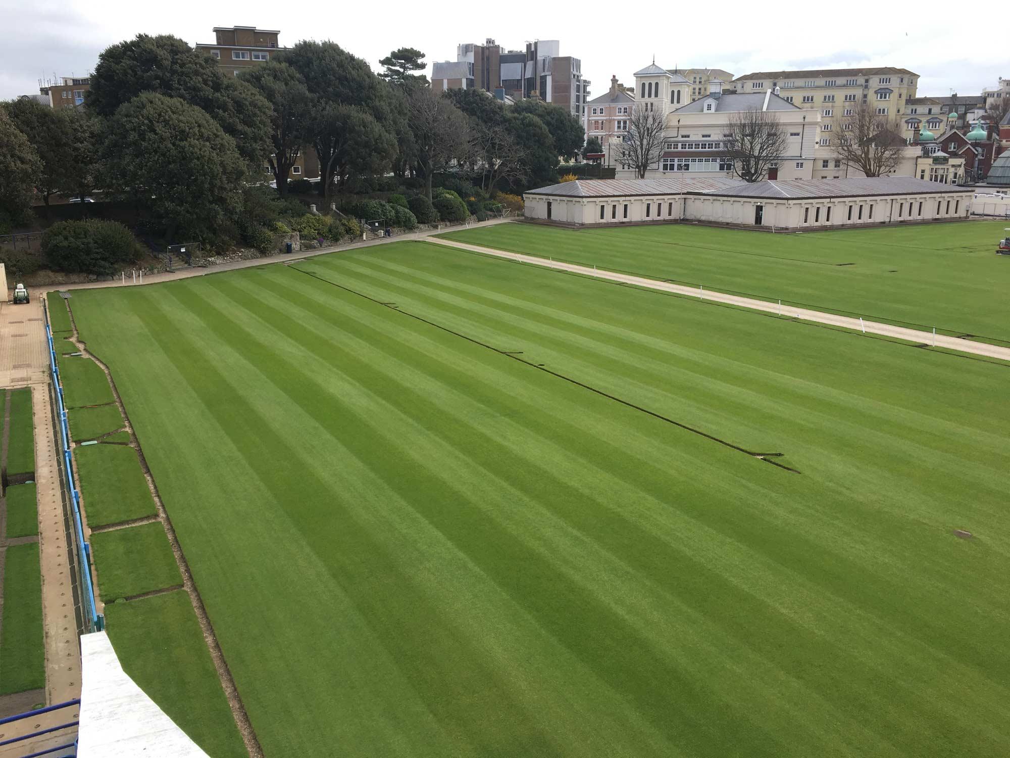 Grass tennis court construction for Cout autoconstruction