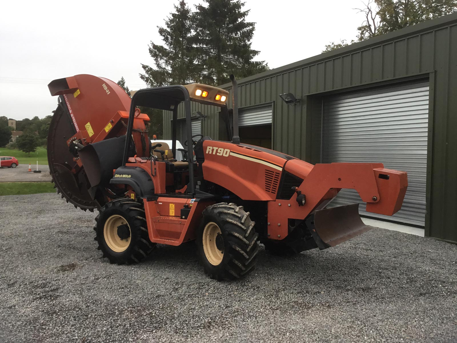 Ditch Witch RT90H Trencher with H941 Rock Wheel