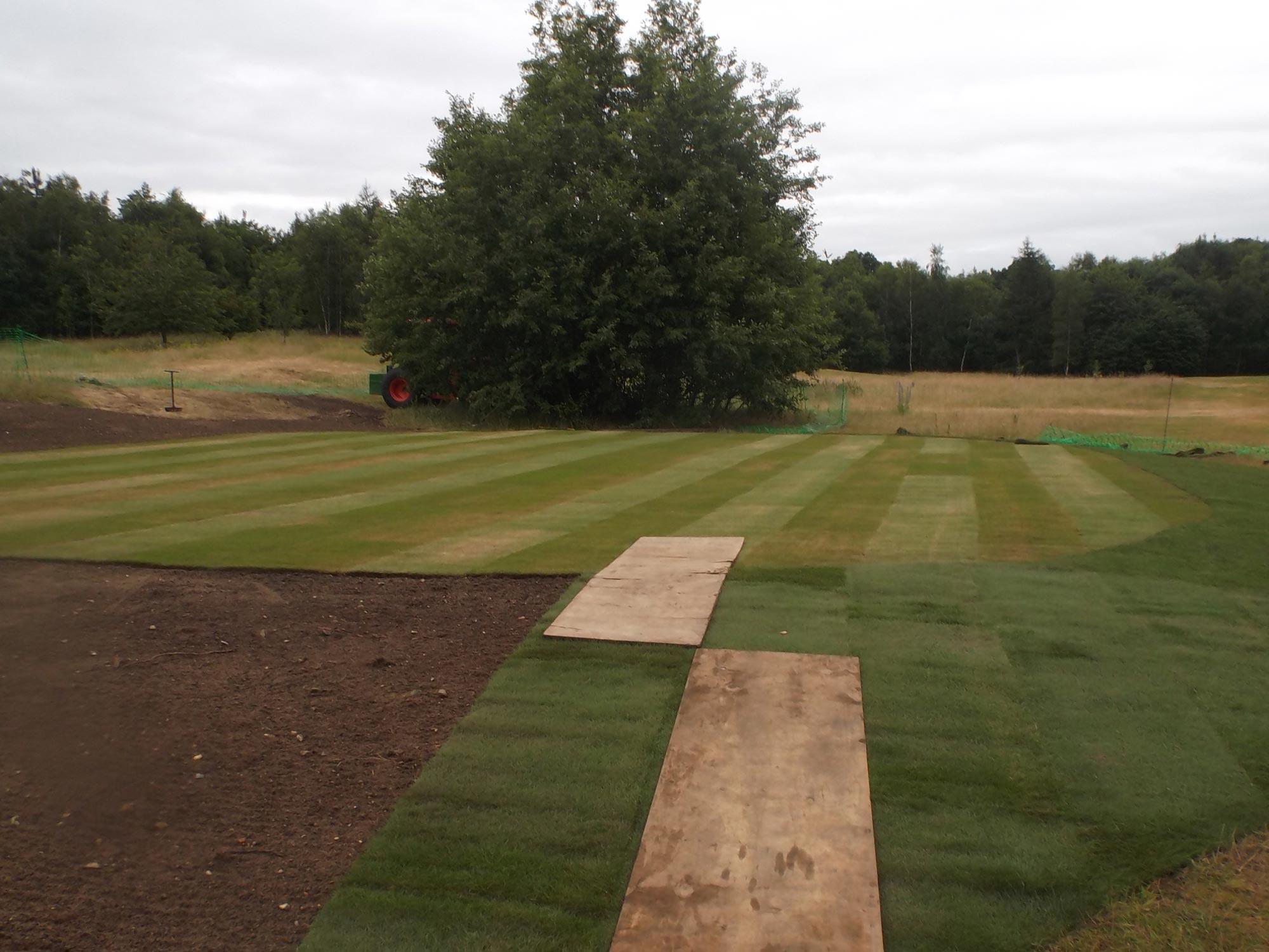 Center Parcs Elveden Forest Golf Green Construction