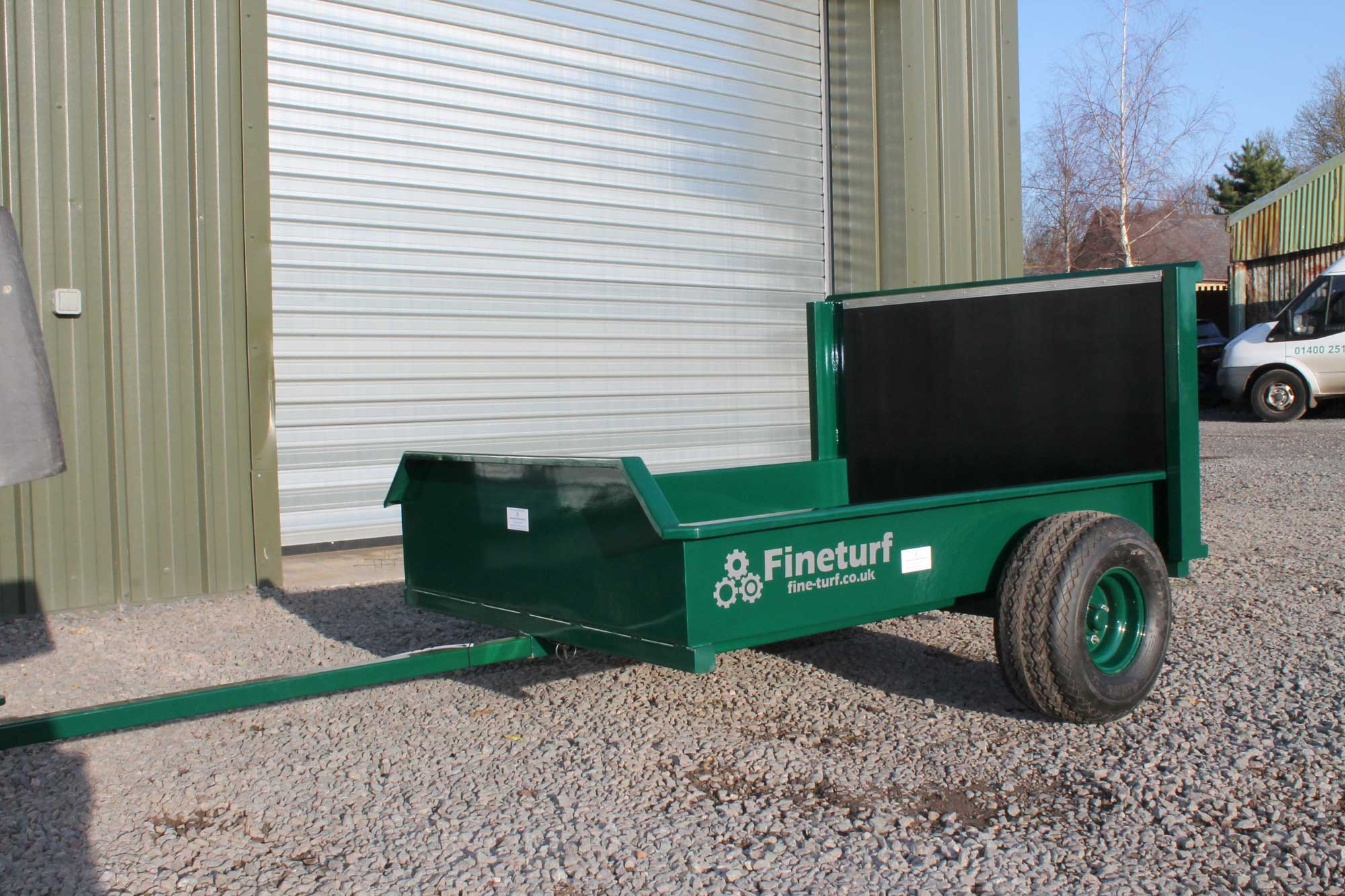 Utility Trailer Suitable for Pedestrian Mower