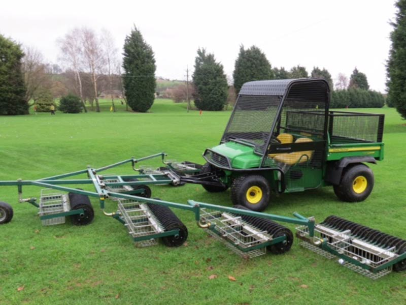 John Deere Utility Vehicle With Protection Cage