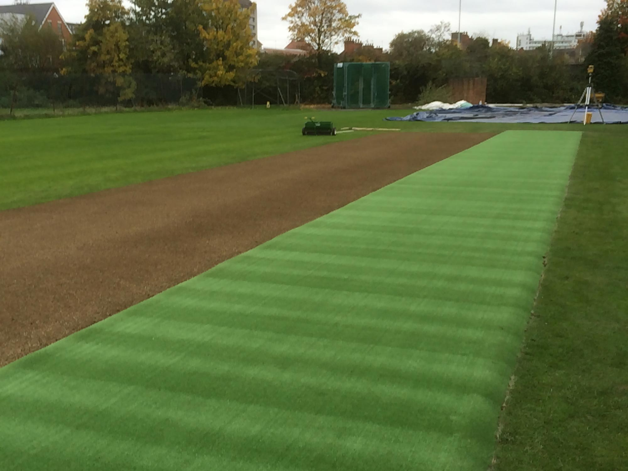 Cricket Wicket Renovation And Outfield Construction