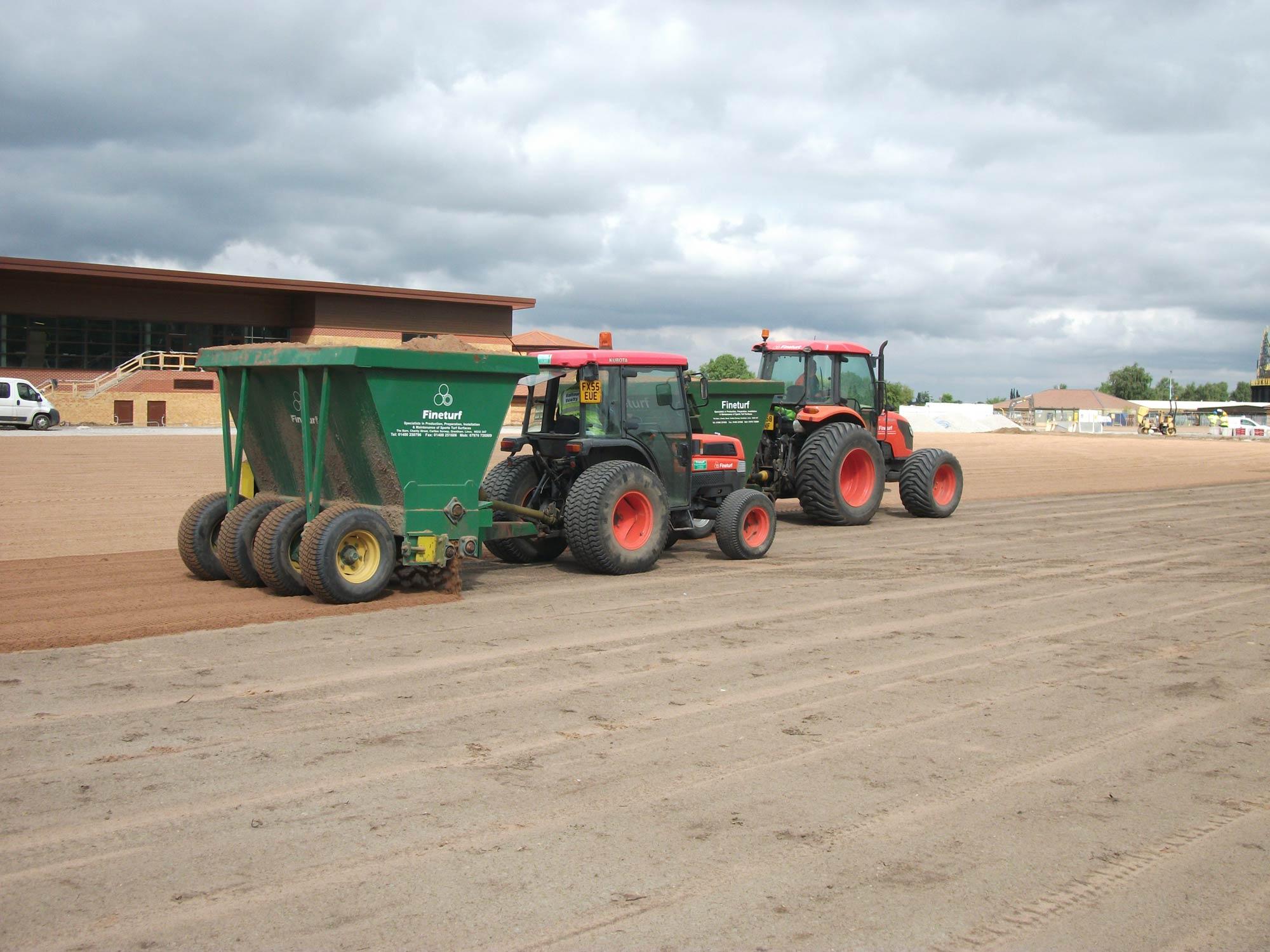 Terra Compactor Wheels : Sand spreader