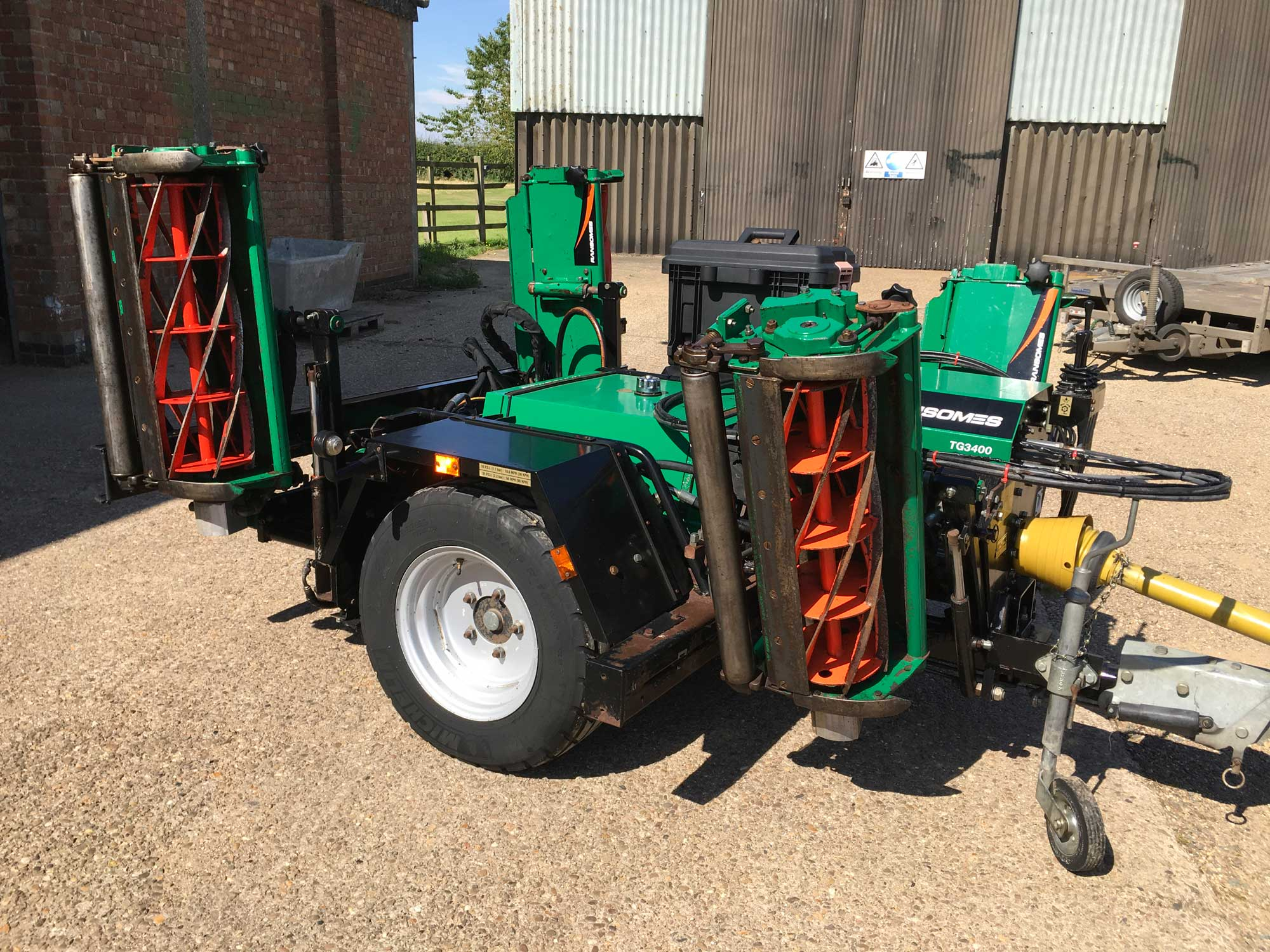 Ransomes Gang Mower parts List by Setting