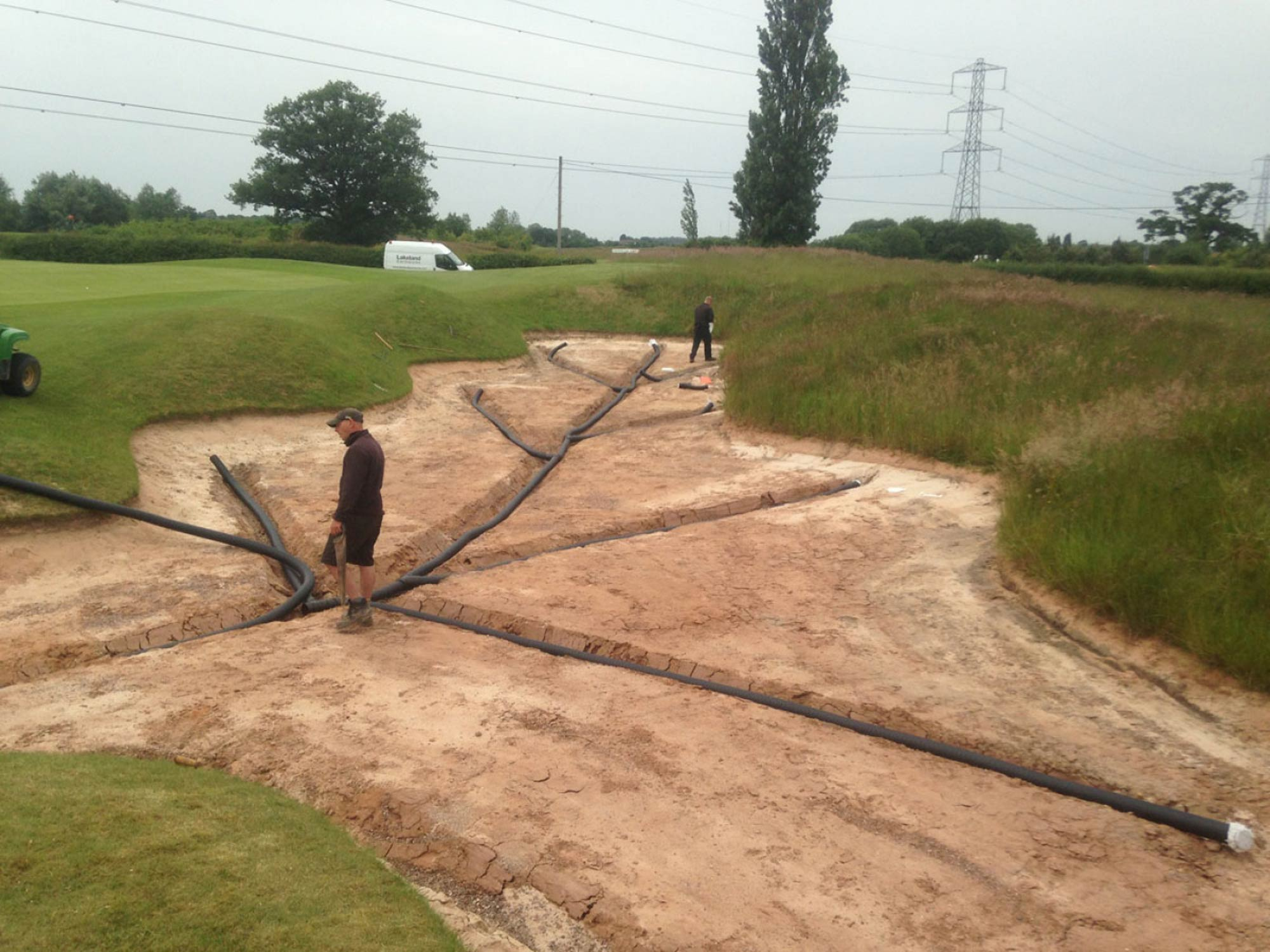 The Belfry PGA National Course Bunker Drainage