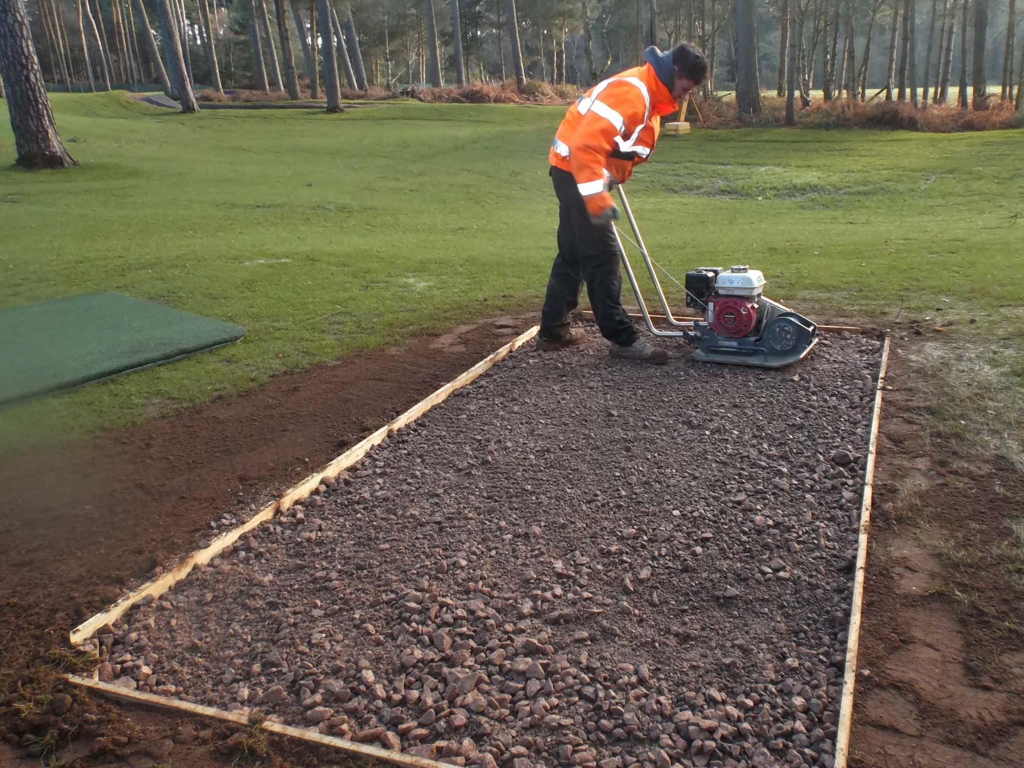 Woburn Golf Club Artificial Tee Mat Construction
